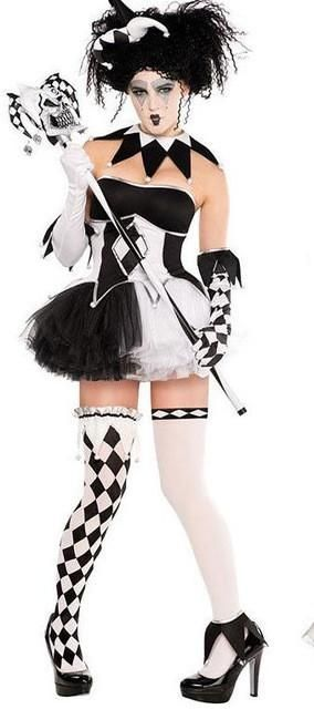Cosplay Costume Adult Circus Clothes Women Clown Costume Halloween