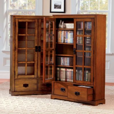 The Stafford Media Cabinet Has Gl Doors To Protect Your Cds And Dvds From Dust This Storage 2 Drawers For Additional