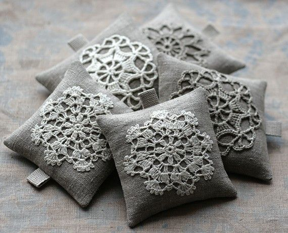 Lavender sachets - namolio on Etsy. These are darling!