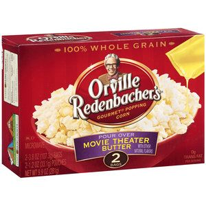 Orville Redenbacher's Gourmet Pour Over Movie Theater Butter Microwave Popcorn, 2pk