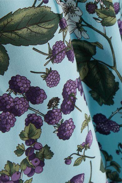 J.Crew - Juntos Printed Silk-crepe Dress - Blue - US10