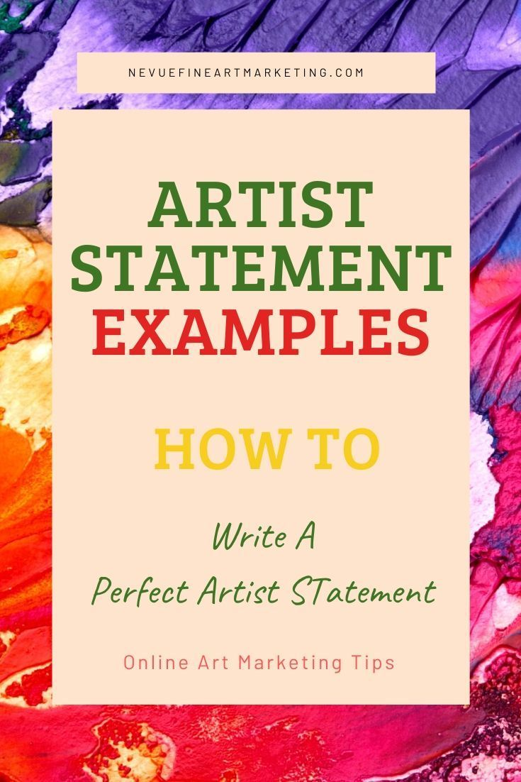 How to write an artist statement that sells art artist
