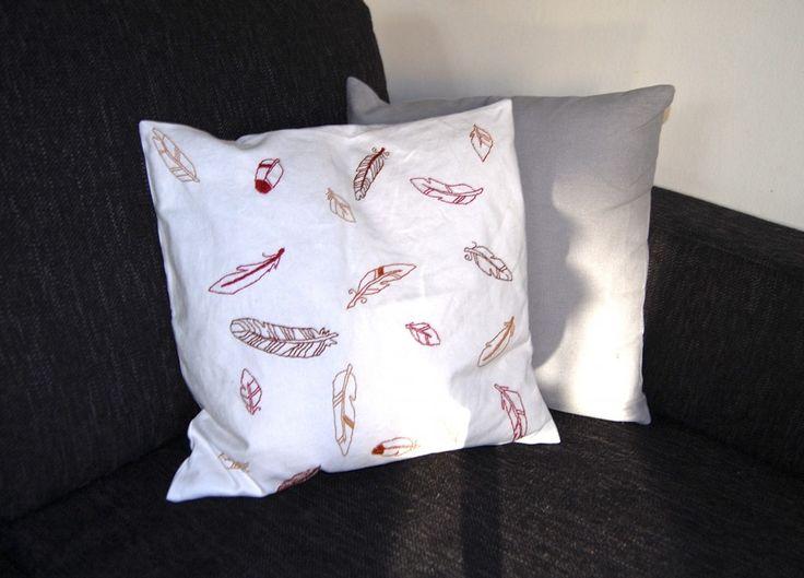 DIY embrodery pillow