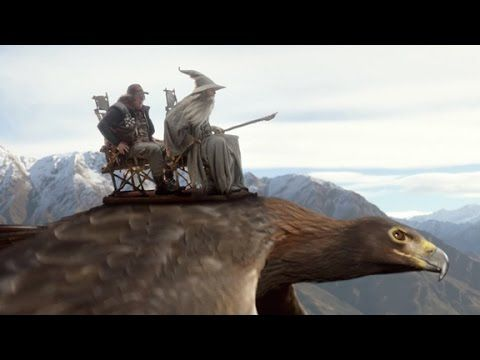 "Hobbits soar again in epic Air New Zealand in-flight video ---> Flights to Middle-earth are going to be a lot more entertaining thanks to ""The Most Epic Safety Video Ever Made"" from Air New Zealand. ""Lord of the Rings"" star Elijah Wood and director Peter Jackson are among those who make appearances in the airline's rollicking new offering. (October 22)"
