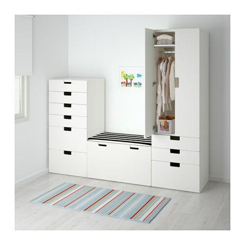 STUVA Aufbewahrungskombi - weiß/weiß - IKEA