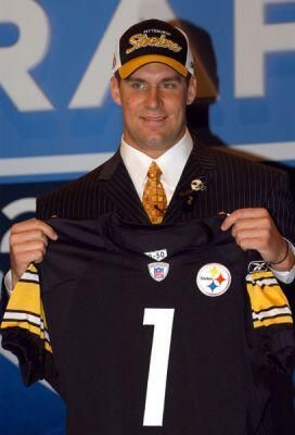 April 24, 2004: With the 11th pick in the 2004 NFL Draft, the Pittsburgh Steelers select...