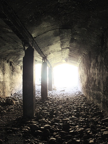 The old abandoned Vredehoek Quarry with a short tunnel to the right of Disa Park on the lower slopes of Devils Peak in Vredehoek, Cape Town. 002