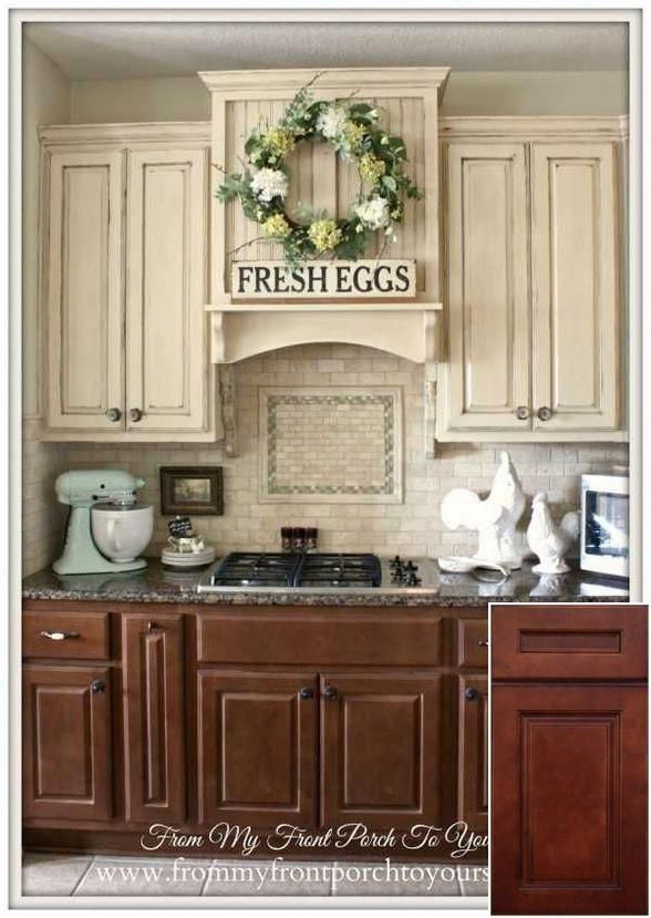 Site Info On Old Oak Cabinets For Sale Oakkitchencabinets Cabinets Contrasting Kitchen Cabinets French Farmhouse Kitchen Farmhouse Style Kitchen