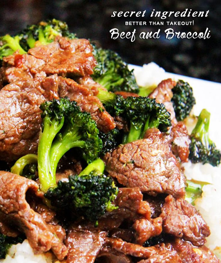 Secret Ingredient, Better Than Takeout! Beef and Broccoli | Tender slices of beef that are SO juicy, SO flavorful as they soak up every savory essence of the marinade and the rich, savory sauce. BEST I'VE EVER HAD! | Carlsbad Cravings