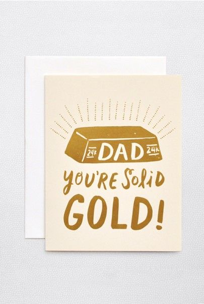 Father's Day is Sunday 6 Augsut in Australia 2015. #fathersday Hello Lucky - Single Card - Solid Gold Dad