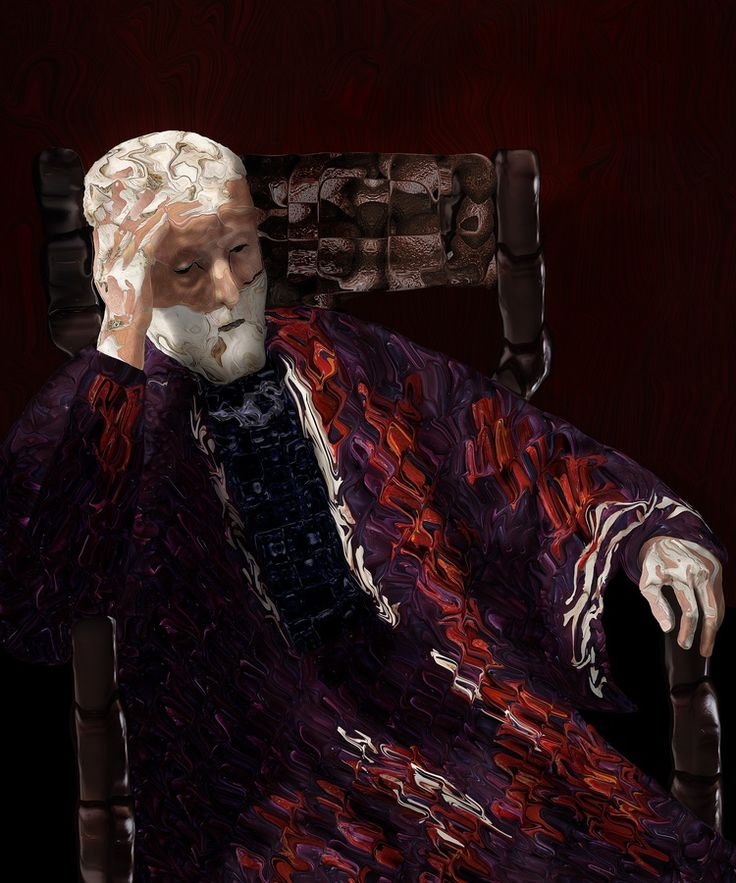 """Jacob, Old man (follower of Rembrandt and Arcimboldo). 2009-2012, C-print and acrylic, 122 x 101cm. Jacob: """"I paint with photos. The subject of the photos is not important, the photos are the paint of the artwork. To illustrate this; if you look closely at Old man you'll notice that the work is entirely composed of fruit and vegetables."""""""