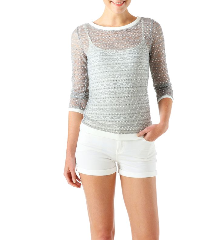 T-Shirt Promod promo t-shirt pas cher, achat T-shirt en dentelle Femme Promod prix promo Promod 26,95 € TTC