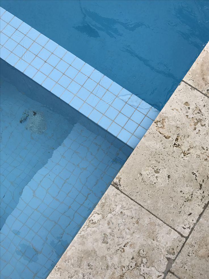 Blue | Pool tile & Travertine