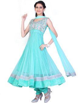 Sareez Self Design Anarkali Suit: Salwar Kurta Dupatta