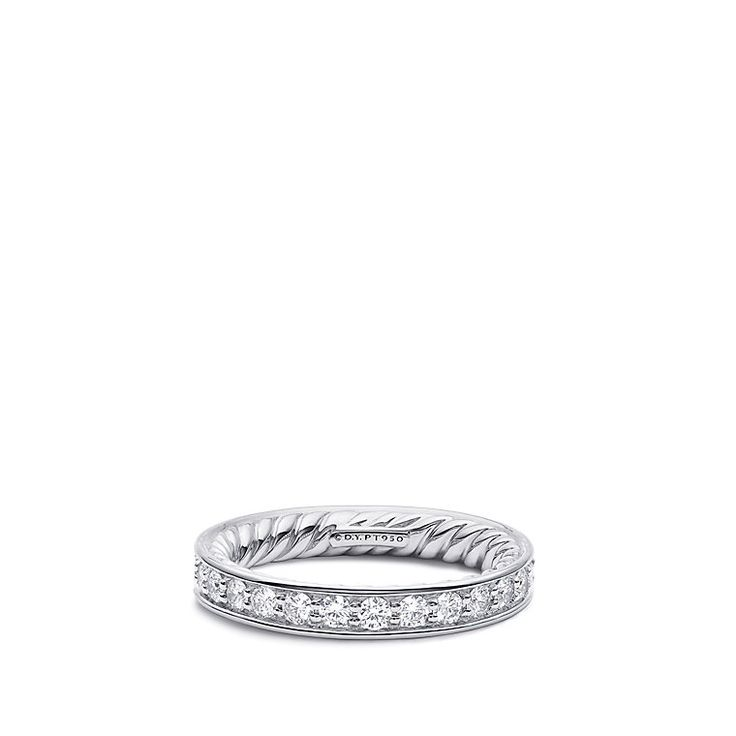 DY Eden Eternity Wedding Band with Diamonds in Platinum, 3.3mm