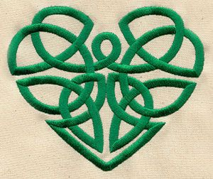 Celtic Heart design (UT2944) from UrbanThreads.com