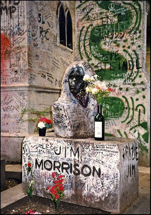 Jim Morrison, Pere Lachaise Cemetery, Paris, France
