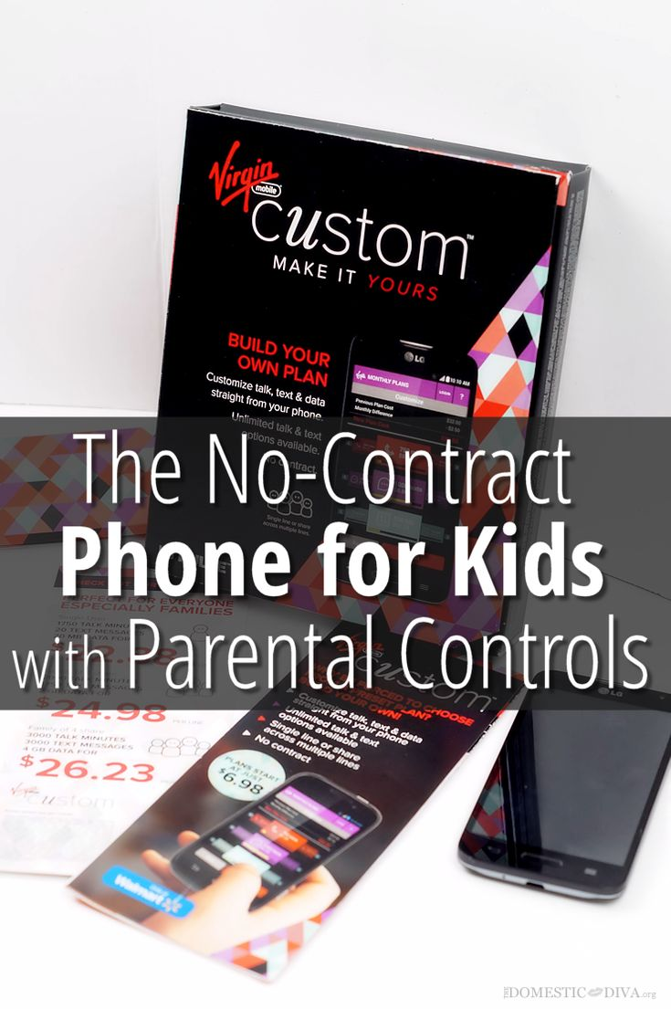 Virgin Mobile Custom at Walmart- No Contract Mobile Phone Plan for Kids with Parental Controls