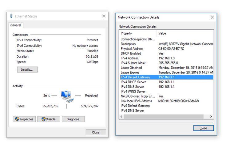 What Is My Default Gateway IP Address?