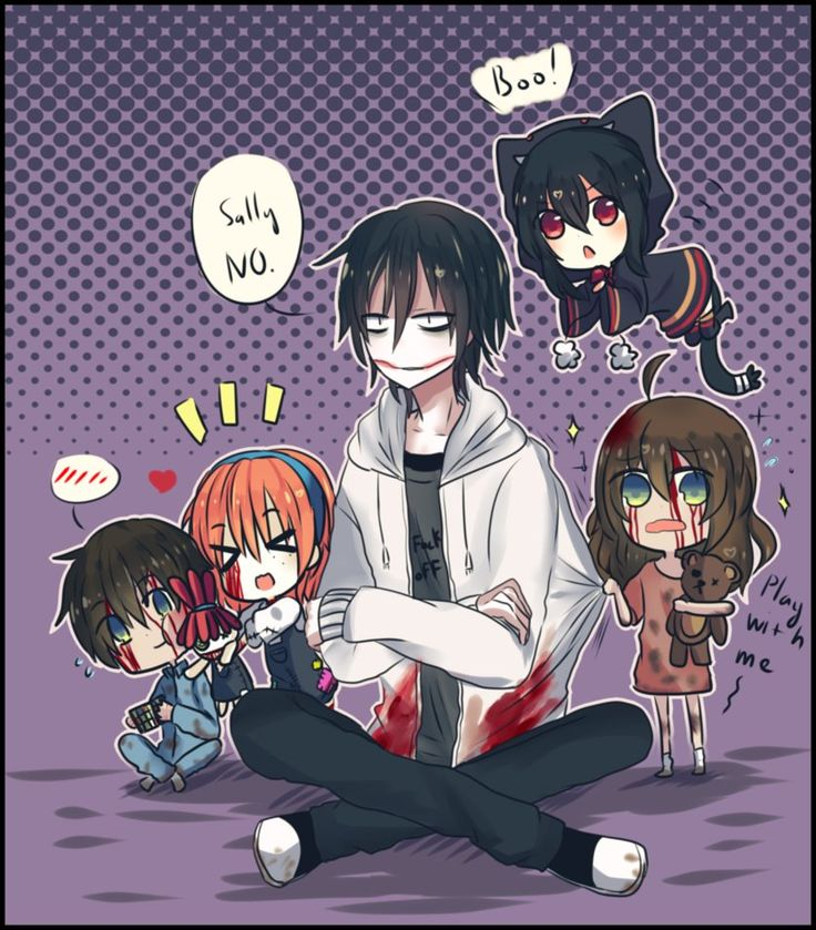 It's look like slendy say him to take care kids....again  Sorry everyone! I very lazy today and have an empty idea now! But I will draw more creepypasta and yandere soon. Jeff the killer ...