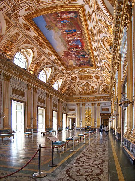 The Throne Room in the Royal Palace of Caserta, Italy (photo byTango7174)
