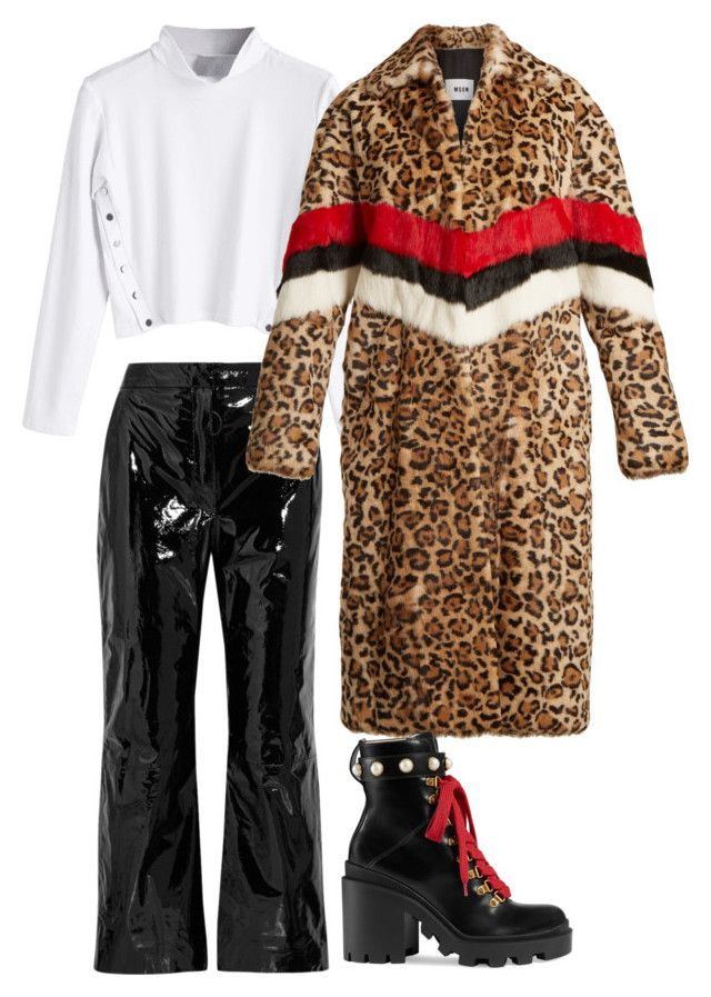 """Untitled #692"" by szudi on Polyvore featuring Off-White, MSGM and Gucci"