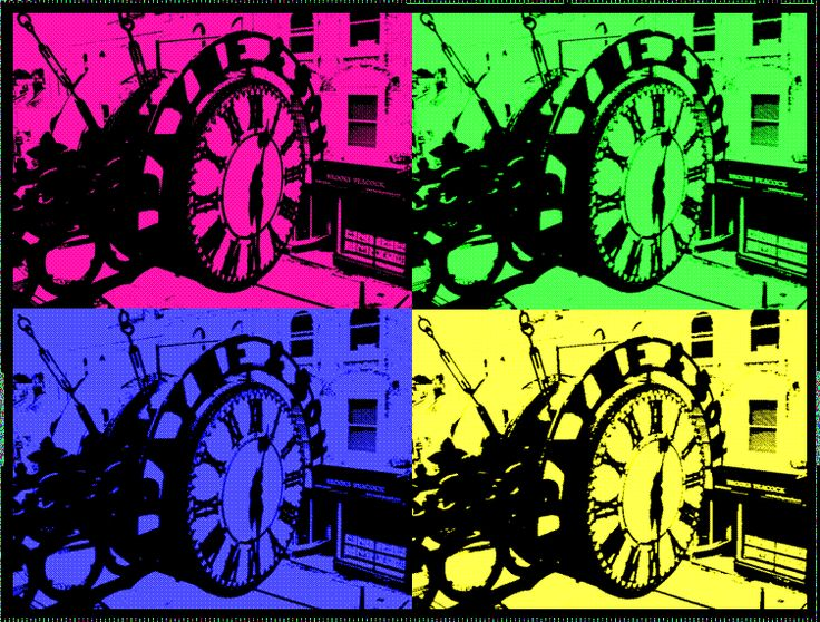 Pop-Art Clock