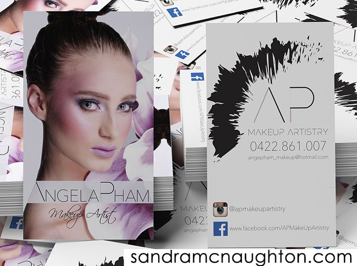 Business cards for a makeup artist.