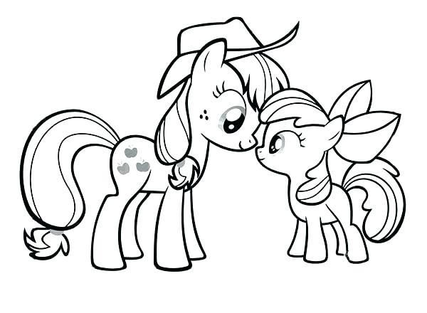 My Little Pony Mom And Baby Coloring Pictures My Little Pony Coloring My Little Pony Applejack Horse Coloring Pages