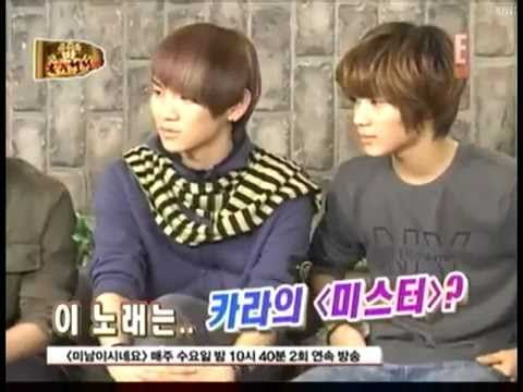 SHINee Key dance girl group battle with mir MBLAQ *And Onew thinks it's hilarious...