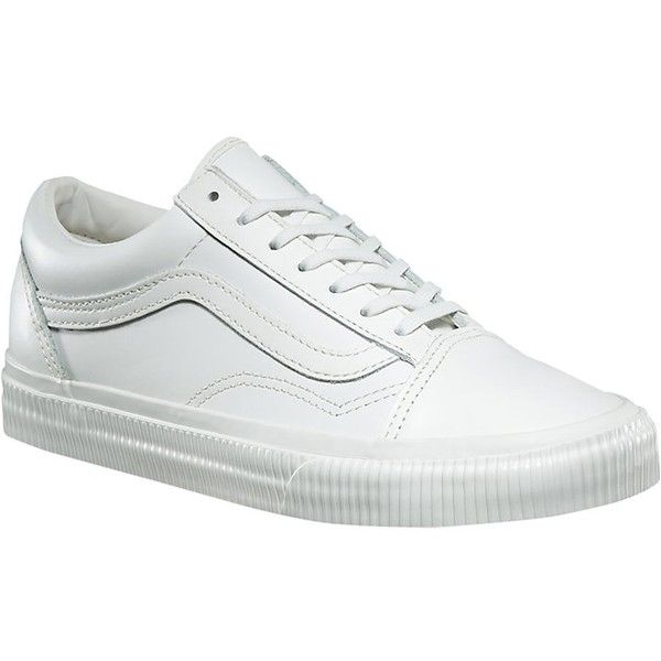 Vans Old Skool Shoe Women's ❤ liked on Polyvore featuring shoes, vans shoes, wide width shoes, wide fit shoes, wide shoes and canvas shoes