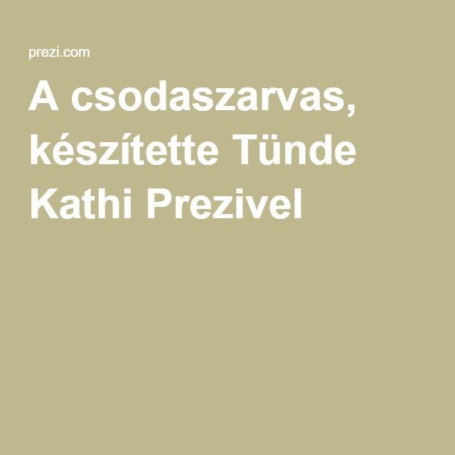 A csodaszarvas, készítette Tünde Kathi Prezivel