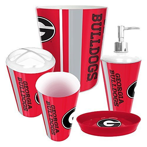 Perfect Georgia Bulldogs NCAA Complete Bathroom Accessories 5pc Set