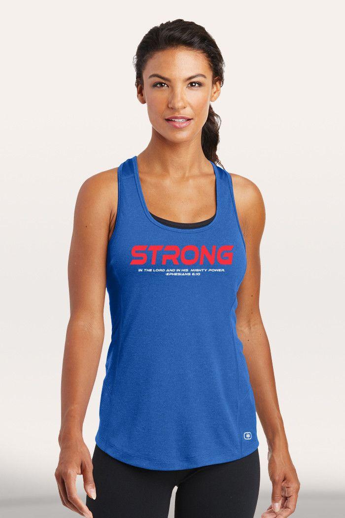 Strong Women's Active Tank - Blue