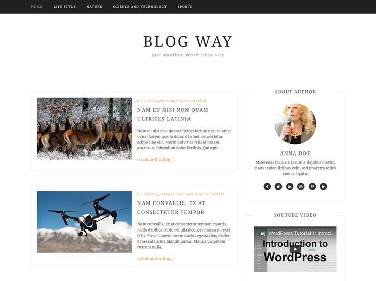 Blog Way — gratis WordPress thema's