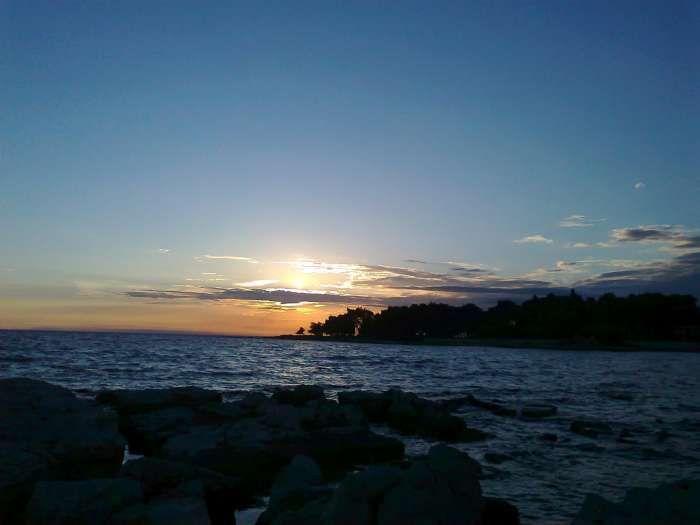 Sunset in Umag, Istrian peninsula, north Adriatic