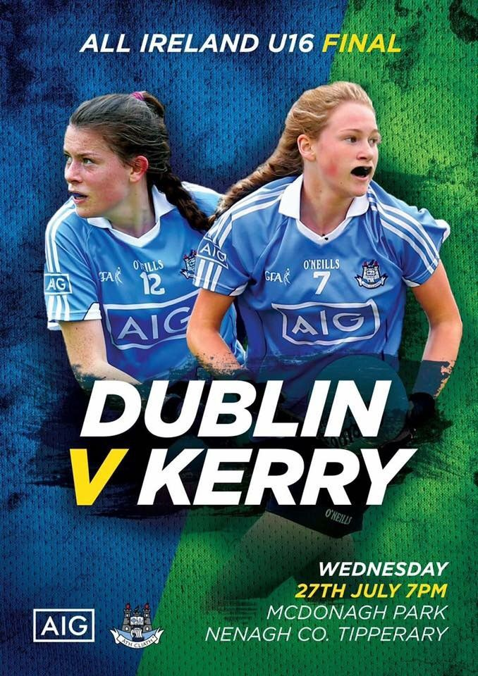 We Are Dublin  » NEXT WEDNESDAY IS A BIG DAY FOR DUBLIN'S U16 LADIES FOOTBALLERS