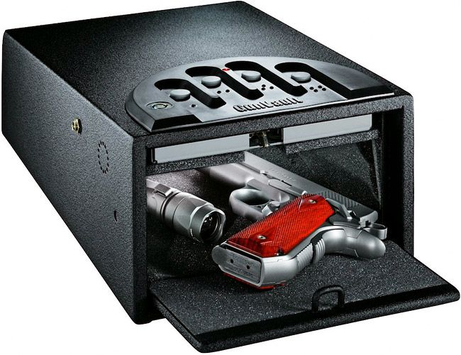 Finger-print scan lock box for you weapon... high-tech way to keep you & your family safe