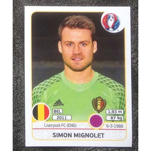 Football Soccer Sticker Panini UEFA Euro 2016 #466 Belgium