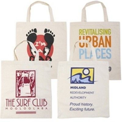 Calico Short Double Handle Branded Tote Bag Min 100 - Promotional Giveaways - Tradeshow Bags - GO-5001s - Best Value Promotional items including Promotional Merchandise, Printed T shirts, Promotional Mugs, Promotional Clothing and Corporate Gifts from PROMOSXCHAGE - Melbourne, Sydney, Brisbane - Call 1800 PROMOS (776 667)