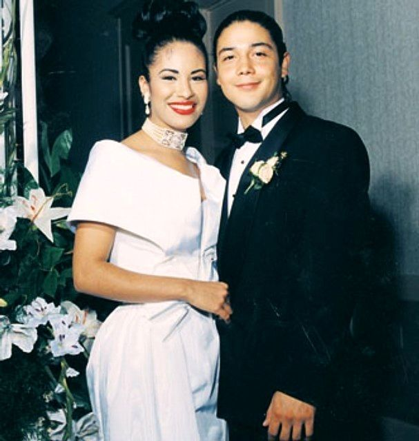 In 1992, she secretly married her guitarist, Chris Perez.   42 Reasons Selena Was Awesome