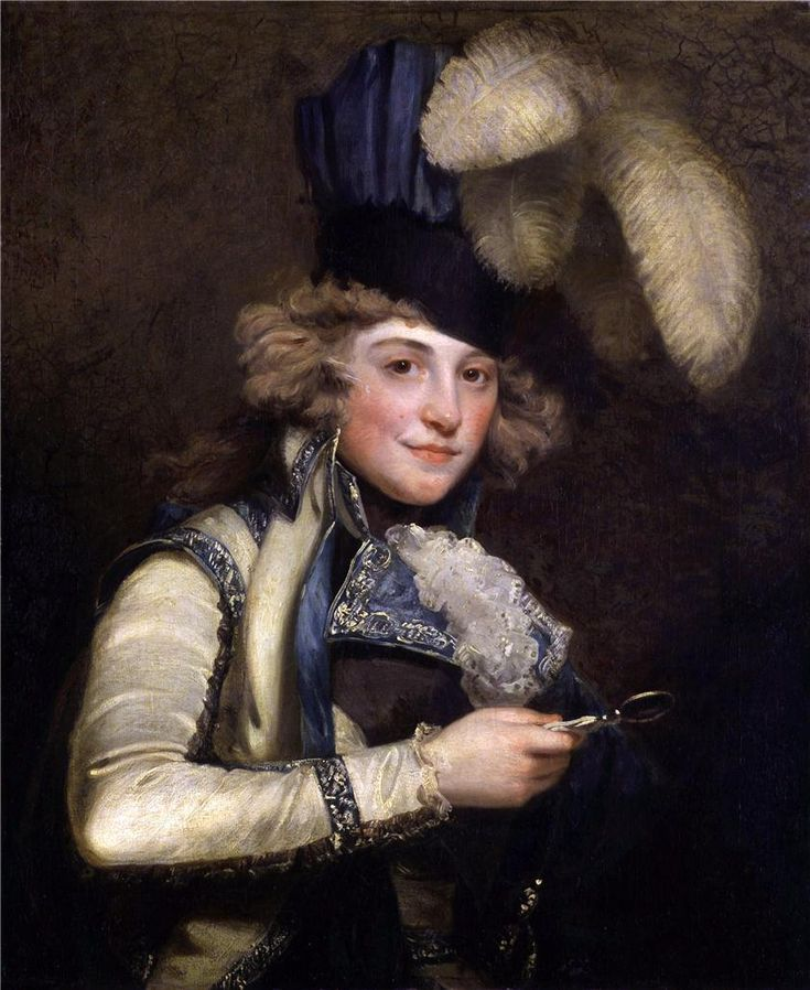 Dorothy Jordan as Hypolita in 'She Would and She Would Not', by John Hoppner, exhibited 1791, Tate Gallery.