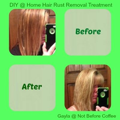 At Home DIY Rust Removal Treatment - Better Than Malibu in a Salon
