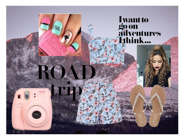 """Spring Break Traveling (Road Trip)"" by outfit-creator ❤ liked on Polyvore featuring Polaroid and M&Co"