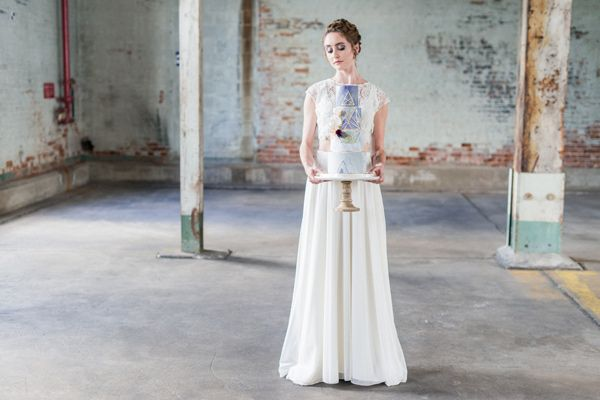 Ruffled - photo by Laura Kelly Photography https://ruffledblog.com/industrial-bohemian-geode-wedding