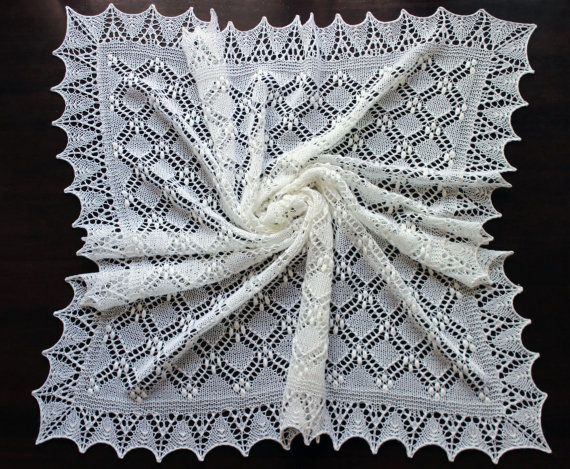 Lace baby blanket, handknit christening heirloom baby shawl, Estonian ...