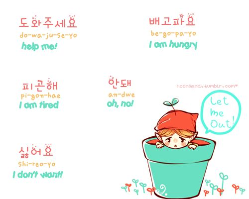 hoonsena:  Okay, here my 2nd lesson ! We will learn some negatory sentences in Korean! :) I hope it helps~ fanart by smile