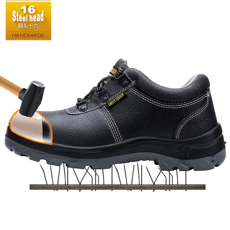 Steel head16 Bestrun outdoor hiking men steel toe cap boots high quality action leather upper rubber puncture proof outsole #Affiliate