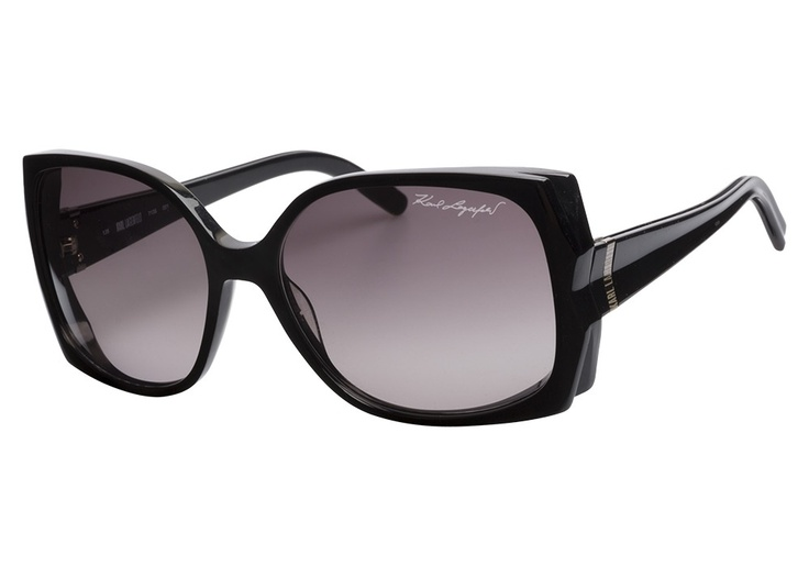 Karl Lagerfeld KL713S 001 Black 58    ✿ WIN these sunglasses with our #ShadesOfSummer contest! Enter Today: sweeps.piqora.com...