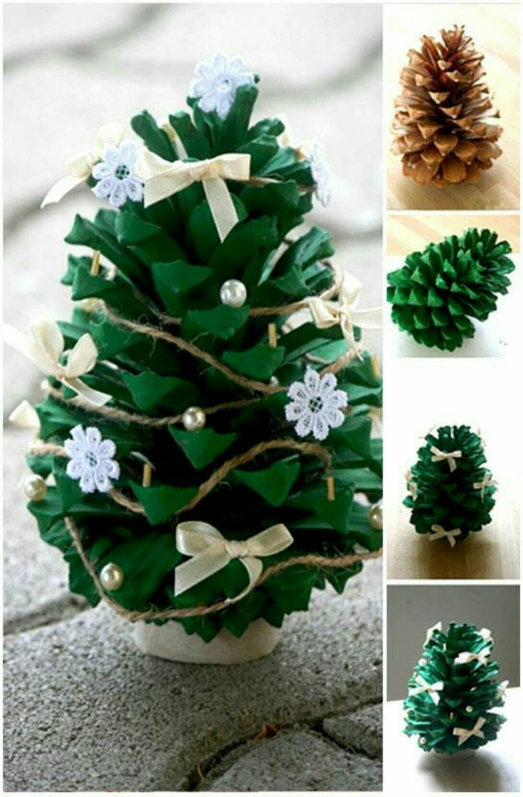 Paint your pine cone green for a